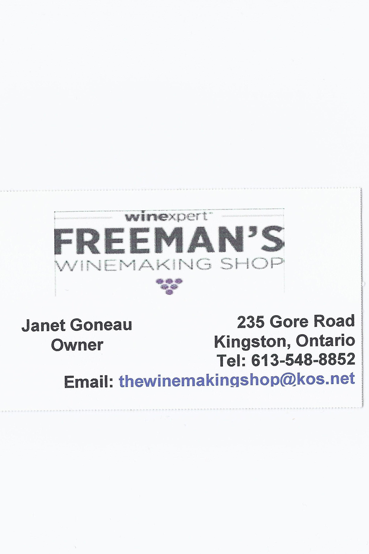 FREEMAN'S WINE MAKING SHOP - SUPPORT OUR SPONSORS!